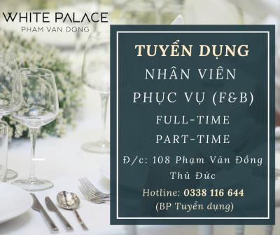 White Palace tuyển dụng